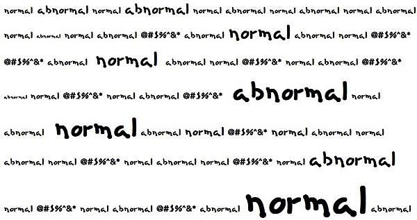 Normal x Abnormal