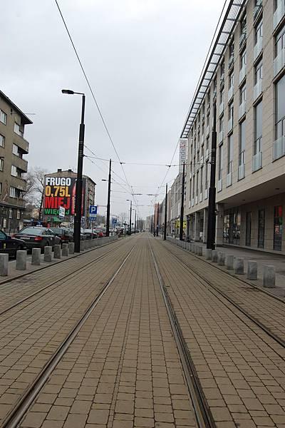 舊首都Krakow的電車軌道