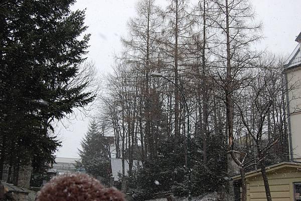 持續下著雪