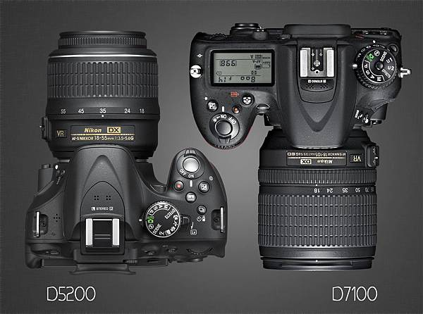 D7100-vs-d5200-top