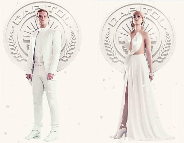 Peeta-Mellark-Johanna-Mason《飢餓遊戲3:自由幻夢1》未來風時尚造型