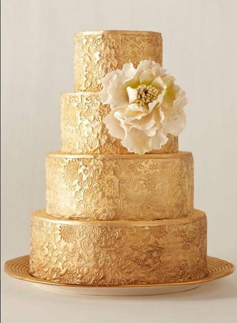 婚禮蛋糕(黃金)