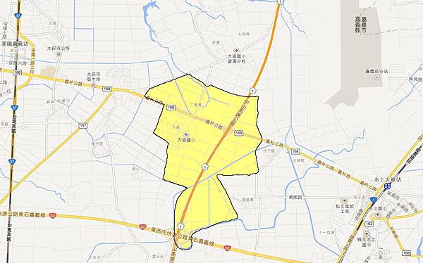 大崙村區域範圍