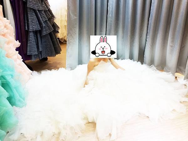 (試穿)手工白紗出租-手工禮服12