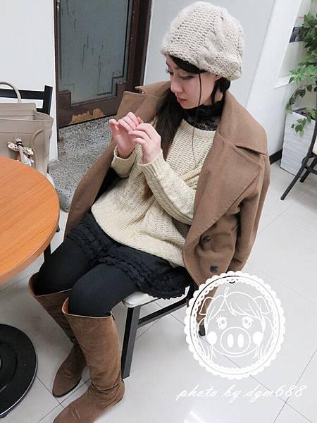 蕾絲高領保暖衣 009_副本