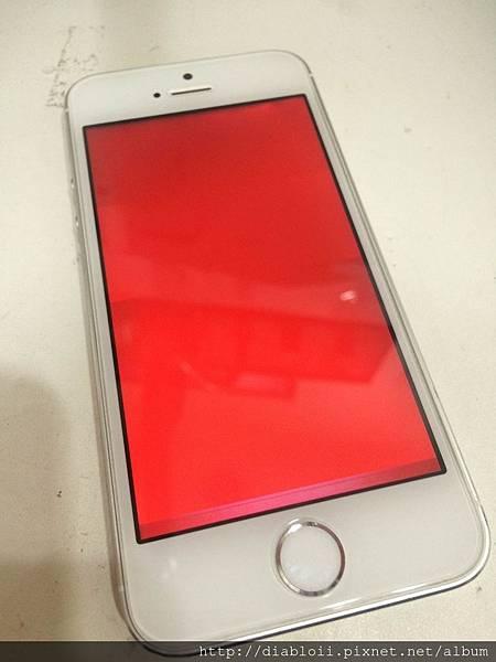 I Phone 5S 32G 泡水 + 無限重啟 + 紅光 + 雙色蘋果