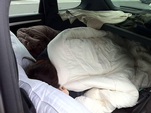 真的很好睡 休旅車真讚