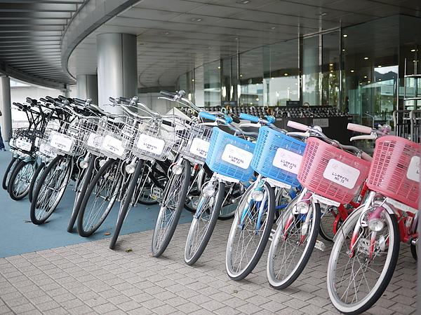 飯店有腳踏車出租,一次1500円