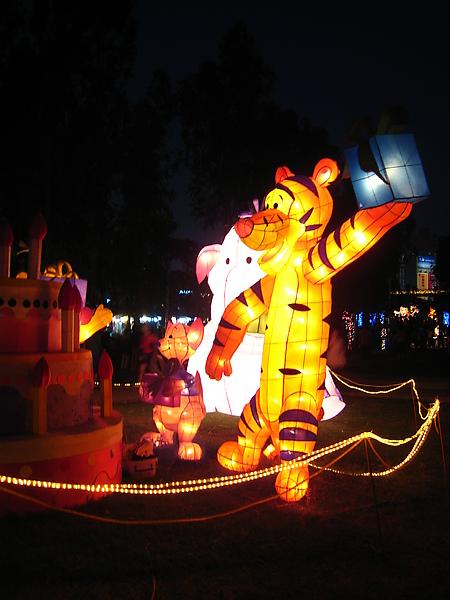 每年文心森林公園的燈會如果有迪士尼系列都一定要來看一下