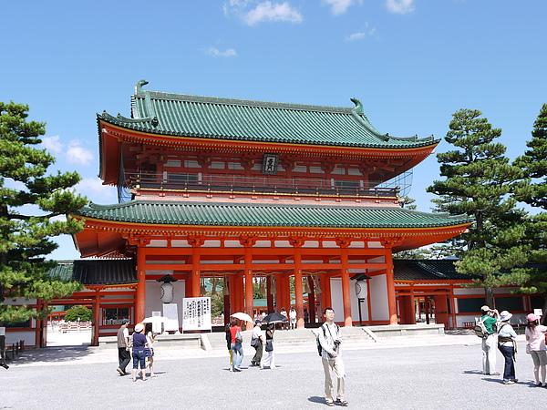 平安神宮很有中國風