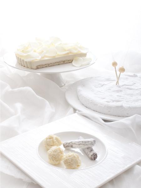 pure white dessert