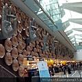 德里機場入境~佛教的各種手印雕塑很吸睛、也巧妙點出這個國家的特色與歷史。