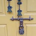 民宿房間的門鎖,各有造型、很有特色。