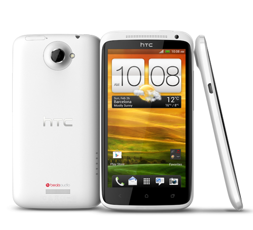HTC ONE X slide-1-white