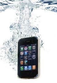 iphone 雨中