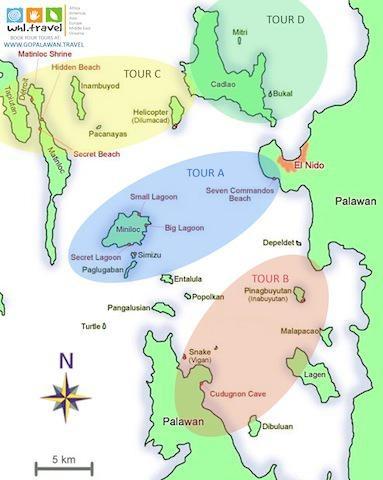 el_nido_tour_map