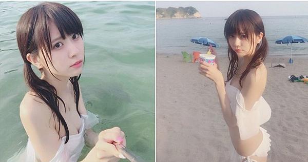 [原創] 日本宅男女神楠ろあ 白色比基尼下水濕透透....胸前「微嫩山丘」白裡透粉紅|天下現金網|天下運動網