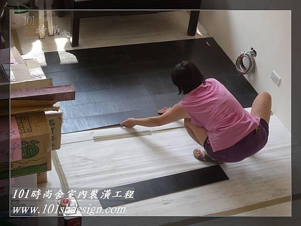 101時尚舍-室內裝潢工程-手扶梯.塑膠地磚工程16
