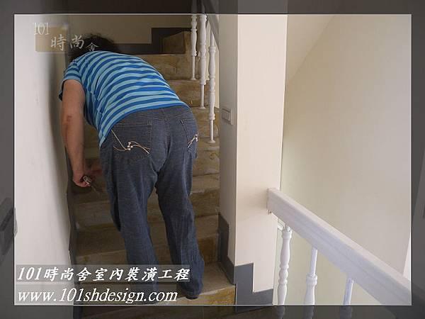 101時尚舍-室內裝潢工程-手扶梯.塑膠地磚工程18