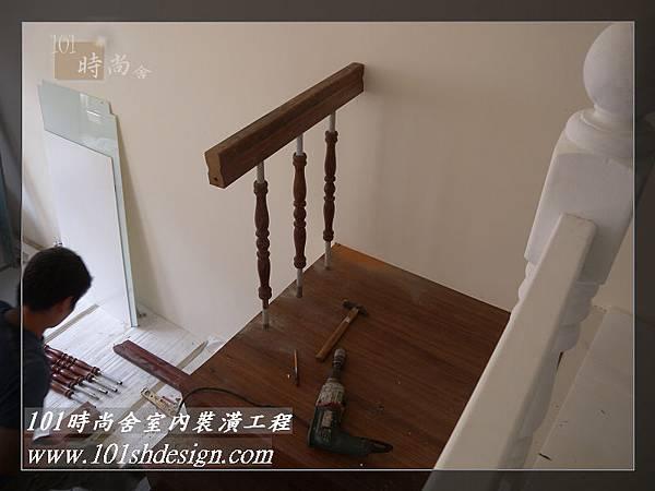 101時尚舍-室內裝潢工程-手扶梯.塑膠地磚工程44