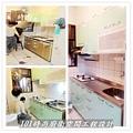 @廚房設計 廚具設計 廚房設計圖 廚房流理台 系統廚具 小套房廚具 廚具工廠直營 一字型廚房設計 作品分享:新北市中和潘公館 不鏽鋼檯面+木心板桶身+水晶門板+喜特麗三機-(1).jpg