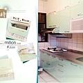 @廚房設計 廚具設計 廚房設計圖 廚房流理台 系統廚具 小套房廚具 廚具工廠直營 一字型廚房設計 作品分享:新北市中和潘公館 不鏽鋼檯面+木心板桶身+水晶門板+喜特麗三機-(2).jpg