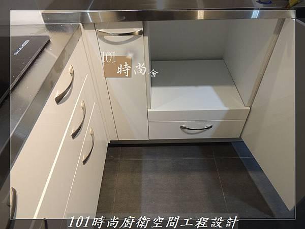不銹鋼檯面廚具L型 作品-景美范公館(165).JPG