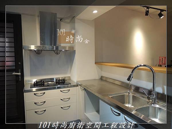 不銹鋼檯面廚具L型 作品-景美范公館(171).JPG