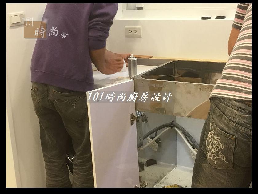 @廚房設計一字型  分享:士林黃公館 (34).JPG