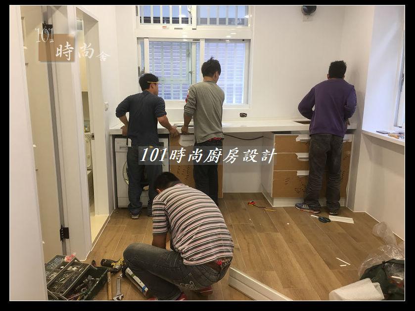 @廚房設計一字型  分享:士林黃公館 (48).JPG