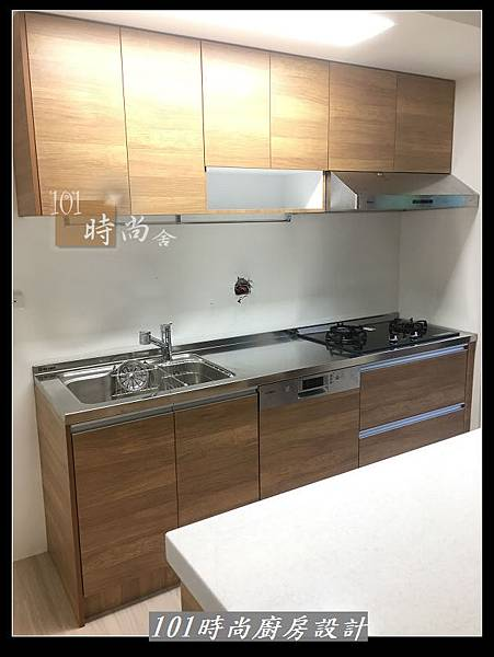 @二字型廚房設計 不鏽鋼檯面+中島櫃 廚具工廠直營 作品分享:政大二街(172).jpg