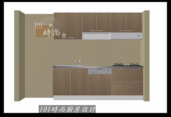 @二字型廚房設計 不鏽鋼檯面+中島櫃 廚具工廠直營 作品分享:政大二街(215).jpg