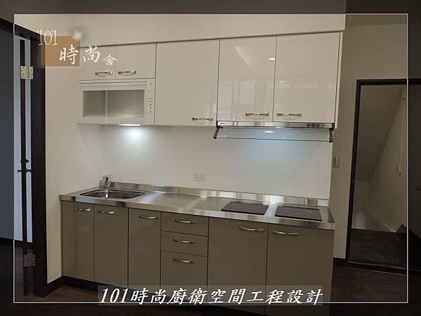 @不鏽鋼檯面一字廚房設計 廚具工廠直營  作品分享:內湖張公館(141).JPG