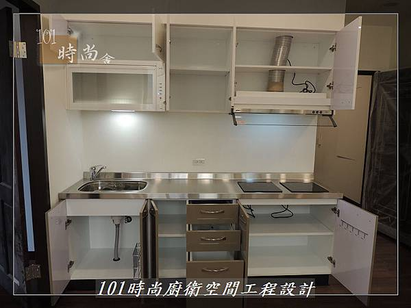 @不鏽鋼檯面一字廚房設計 廚具工廠直營  作品分享:內湖張公館(158).JPG