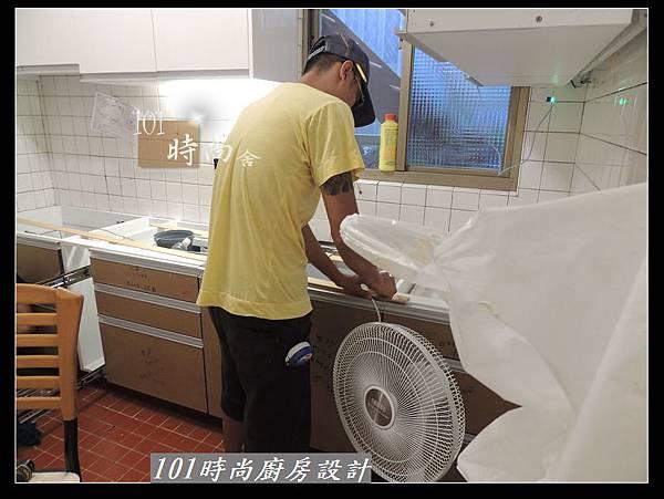 @人造石檯面一字型廚房設計 廚具工廠直營 作品分享:南港林公館(31).jpg