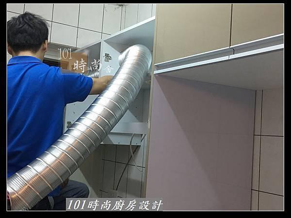 @L字型廚房設計 廚具工廠直營作品分享:中和新生張公館(10).JPG