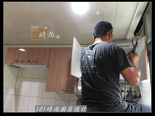 @不鏽鋼檯面廚房設計一字型作品-萬大路張公館(16).JPG