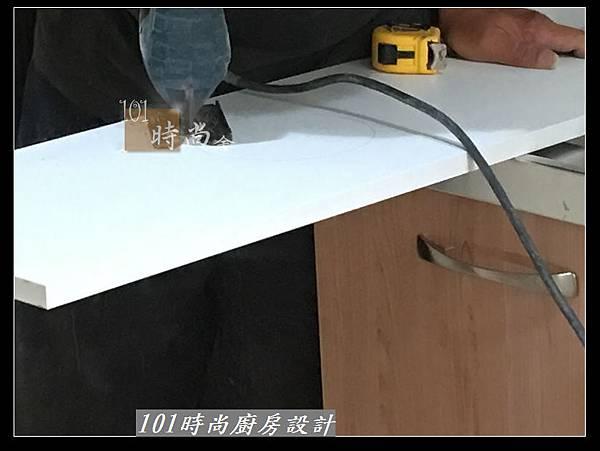 @不鏽鋼檯面廚房設計一字型作品-萬大路張公館(18).JPG