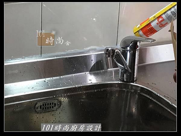 @不鏽鋼檯面廚房設計一字型作品-萬大路張公館(36).JPG