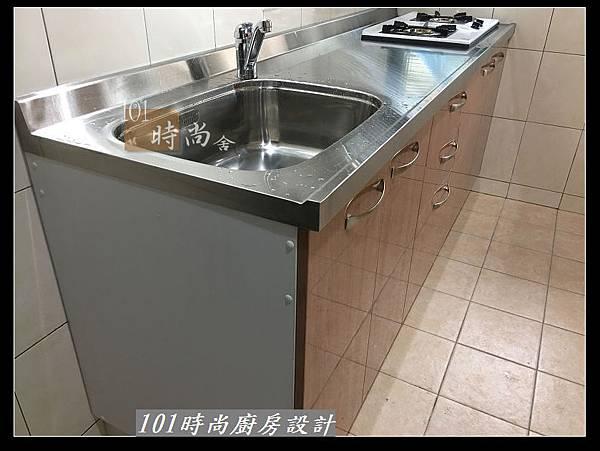 @不鏽鋼檯面廚房設計一字型作品-萬大路張公館(65).JPG