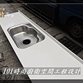 @廚房設計 廚具設計 廚房流理台 廚具工廠直營  人造石檯面一字型廚房 作品分享:中和董公館(7).jpg