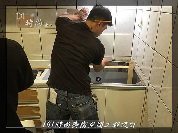 @ 廚房設計 廚具工廠直營 人造石檯面一字型廚房 作品-中和景平路涂公館-(6).JPG