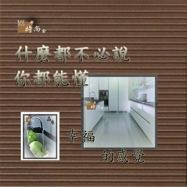@101時尚舍 品味廚房 廚房設計 - 時尚系列 ~中島櫃