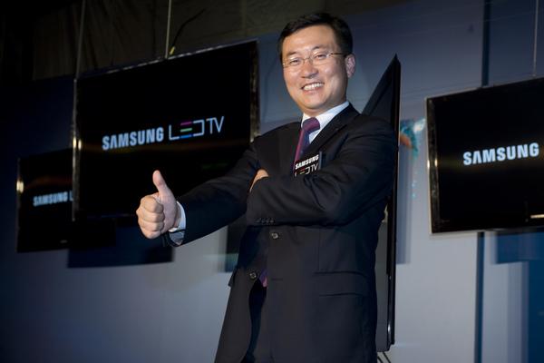 全球 No.1 電視品牌--Samsung, 2008 年 Samsung 液晶電視締造「Triple 20」輝煌紀錄:全球「銷售2,000萬台」,「銷量市佔20%」,「營收200億美金」, 圖為台灣三星電子金衡睦總經理.jpg