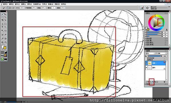 數位水彩繪製插圖