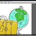 數位水彩繪製插畫