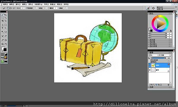 數位水彩繪製插畫 4