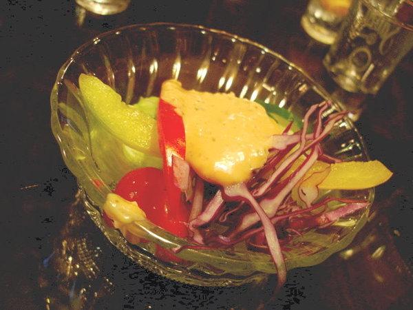 套餐附的沙拉