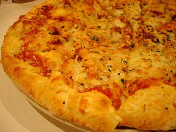 這道我提議要點的BBQ雞肉披薩,410圓