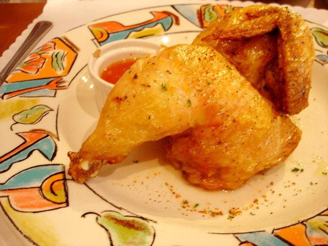 我的卡門套餐中的香煎仔雞排佐蒜辣醬汁